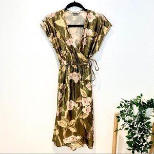 Tucker Silk Floral Wrap Dress